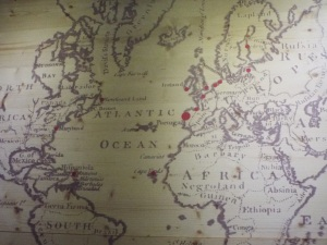 Destinations of international trade in port, 18th century (from Duoro Museum)
